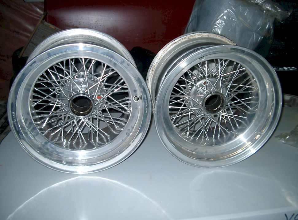 borrani wire wheels for sale   ferrari daytona   vintage